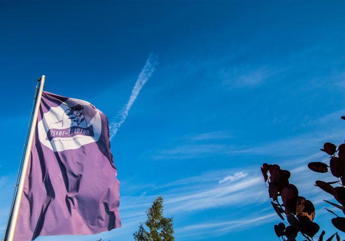 Blauer Himmel über Bremm